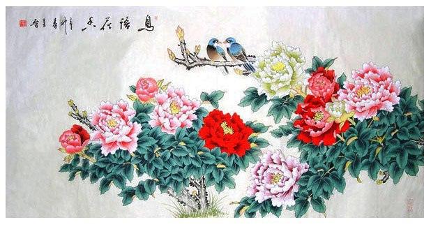 Ý nghĩa hình ảnh Hoa mẫu đơn - Chim trĩ