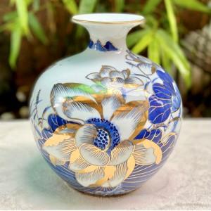Bình hút lộc hoa sen phú quý vẽ vàng BL14
