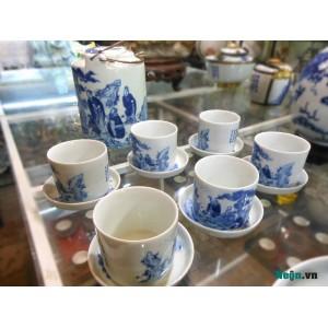 Bộ ấm tích trà xanh sáu chén AC08