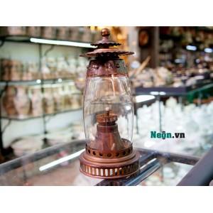 Đèn dầu giả cổ quả hồng DD09