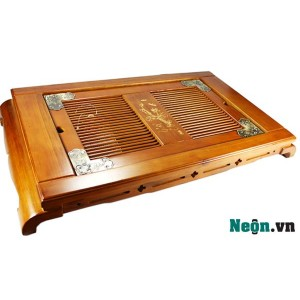 Khay đựng ấm chén bằng gỗ KT03